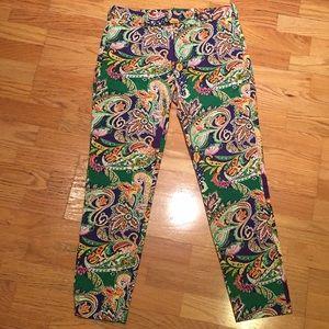 NWOT paisley print Ralph Lauren Sport ankle pants